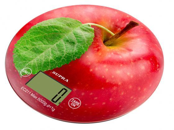 Весы кухонные Supra BSS-4300 красный телефон supra stl 111 белый