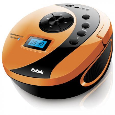 Магнитола BBK BS10BT черный/оранжевый цена и фото