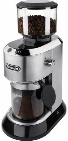 Кофемолка DeLonghi KG520.M 150 Вт серебристый кофемашина delonghi ecam510 55 m 1450 вт серебристый