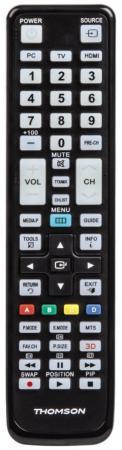 Пульт ДУ Thomson H-132498 универсальный Samsung TVs черный пульт ду thomson h 132502 универсальный panasonic tvs черный