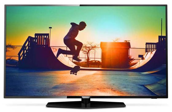 Телевизор LED 55 Philips 55PUT6162/60 черный 3840x2160 Smart TV Wi-Fi RJ-45 YPbPr led телевизор philips 24pht4031 60