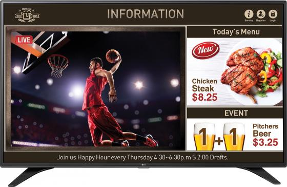 """Телевизор LED 49"""" LG 49LV640S черный 1920x1080 60 Гц RJ-45 цена и фото"""