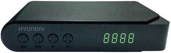 Тюнер цифровой DVB-T2 Hyundai H-DVB200 черный original dvb t satlink ws 6990 terrestrial finder 1 route dvb t modulator av hdmi ws 6990 satlink 6990 digital meter finder
