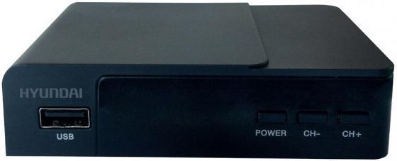 Тюнер цифровой DVB-T2 Hyundai H-DVB140 черный цена и фото