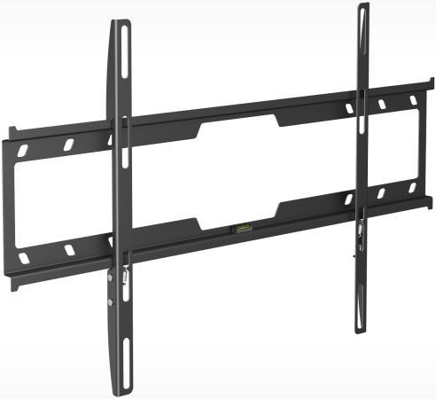 Кронштейн Holder F6618-B черный для ЖК ТВ 32-70 настенный фиксированный до 45 кг кронштейн kromax star 1 фиксированный кронштейн для жк и плазмы 42 70 vesa 800x500 мм макс нагр 75 кг grey
