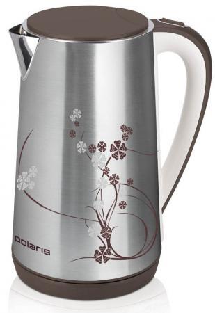 Чайник Polaris PWK 1726CA 2400 Вт серебристый рисунок 1.7 л нержавеющая сталь чайник polaris pwk 1749ca 2200 вт бордовый 1 7 л нержавеющая сталь