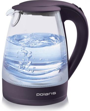 Чайник Polaris PWK 1767CGL 2200 Вт фиолетовый 1.7 л пластик/стекло чайник polaris pwk 1749ca 2200 вт бордовый 1 7 л нержавеющая сталь