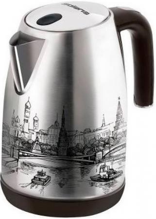 Купить Чайник Polaris PWK 1856CA 2000 Вт с рисунком 1.8 л нержавеющая сталь