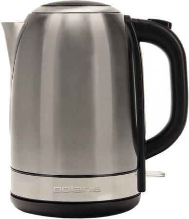 Чайник Polaris PWK 1859CA 2150 Вт серебристый матовый чёрный 1.8 л нержавеющая сталь чайник polaris pwk 1749ca 2200 вт бордовый 1 7 л нержавеющая сталь