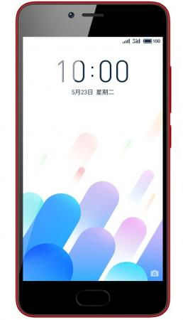 Смартфон Meizu M5c красный 5 32 Гб LTE Wi-Fi GPS 3G M710H_32GB_RED смартфон meizu m5c 16gb m710h черный m710h 16 b