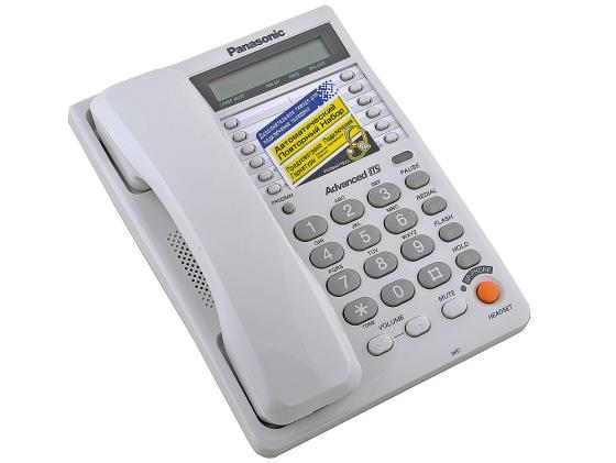 Фото Телефон Panasonic KX-TS2365RUW белый радиотелефон dect panasonic kx tg6811rub черный
