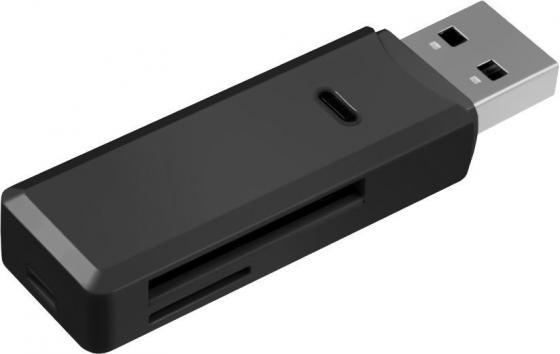 Картридер внешний Ginzzu GR-311B USB 3.0-SD/SDXC/SDHC/MMC/microSD/microSDXC/microSDHС черный картридер внешний hama h 39871 usb 3 0 usb 2 0 поддерживает sd sdhc sdxc microsd microsdhc microsdxc черный