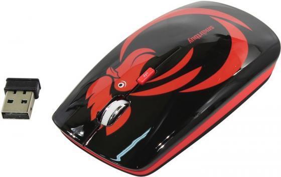 Мышь беспроводная Smart Buy 327AG Огненный петух чёрный USB