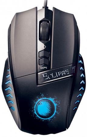 Мышь проводная QUMO Eclipse M23 чёрный USB мышь qumo dragon war kraken m30 проводная оптическая для pc