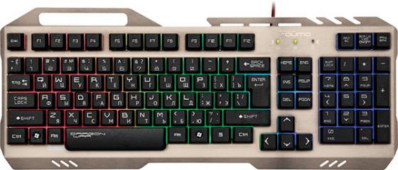 Клавиатура проводная QUMO ReaL SteeL K05 USB серебристый черный цена