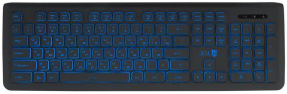 все цены на Клавиатура проводная Jet.A SlimLine K20 USB черный онлайн