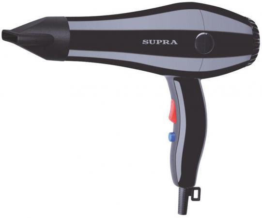 Фен Supra PHS-1401S 1400Вт чёрный фен supra phs 1410 1400вт синий