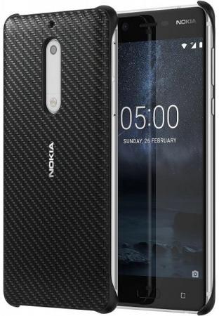 Чехол Nokia Carbon Fibre Design Case Onyx для Nokia 5 черный nokia 5