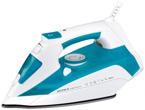 Утюг Supra Supra IS-2206 2200Вт белый синий кастрюля supra sys n1843c