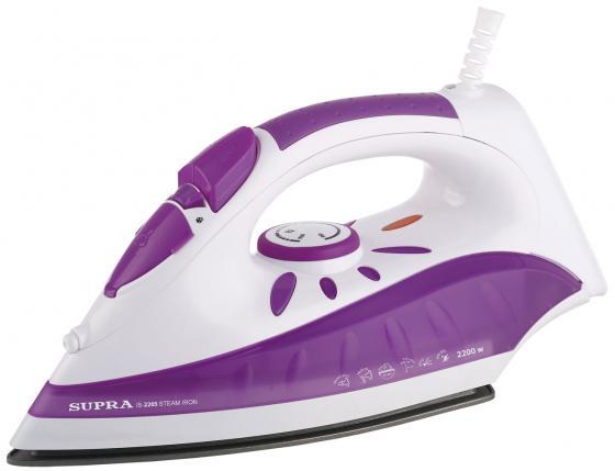 Утюг Supra IS-2205 2200Вт белый фиолетовый утюг supra is 2605 2600вт фиолетовый