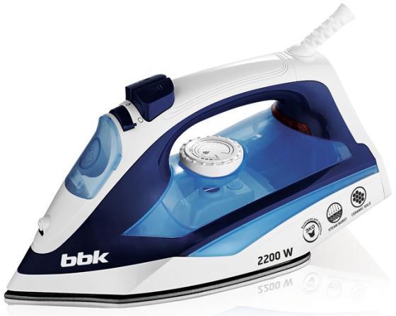 Утюг BBK ISE-2201 2200Вт белый синий утюг bbk ise 2201 2200вт белый синий