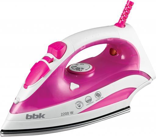 Утюг BBK ISE-2200 2200Вт белый розовый утюг bbk ise 2201 2200вт белый синий