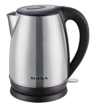 все цены на Чайник Supra KES-1838 2200 Вт серебристый чёрный 1.8 л нержавеющая сталь онлайн