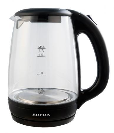 Чайник Supra KES-2171 2200 Вт чёрный прозрачный 1.7 л стекло supra kes 2301 grey