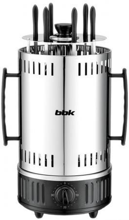 Электрошашлычница BBK BBQ603T серебристый чёрный электрошашлычница galaxy gl2610