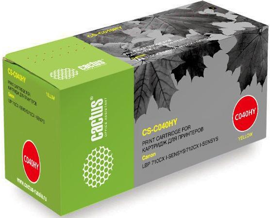 Картридж Cactus CS-C040HY для Canon LBP 710CX I-SENSYS/712CX I-SENSYS желтый 10000стр цены онлайн
