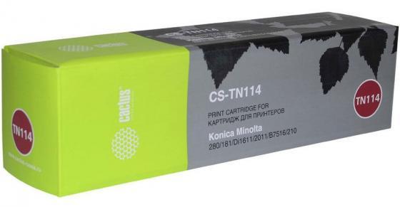 Картридж Cactus CS-TN114R для Konica Minolta 162/7115F/7118/7118F/7216/7220/Bizhub 163/Bizhub 210/Bizhub 211 черный 11000стр картридж konica minolta tn 116 для bizhub 164 165 185 черный