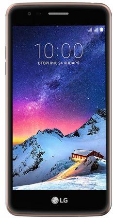 Смартфон LG K8 2017 золотистый 5 16 Гб LTE Wi-Fi GPS 3G LGX240.ACISGK смартфон lg q6 черный 5 5 64 гб lte wi fi gps 3g 4g lgm700an a4isbk