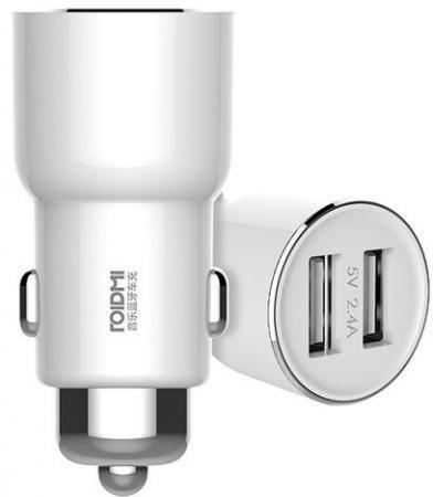 Автомобильное зарядное устройство Xiaomi Roidmi 2 2А USB белый зарядное устройство others silive usb 16000mah iphone xiaomi samsung htc lg s457 s