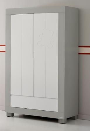 Шкаф двустворчатый Micuna Neus (grey/white)
