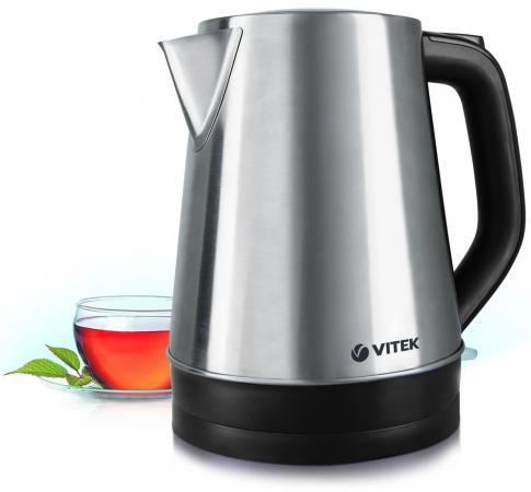 Чайник Vitek VT-7040(ST) 2200 Вт серебристый чёрный 1.7 л нержавеющая сталь чайник vitek vt 7007 st 2200 вт 1 7 л нержавеющая сталь серебристый