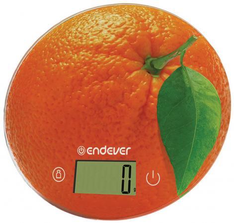 Весы кухонные ENDEVER Skyline KS-519 оранжевый рисунок весы endever skyline ks 510s