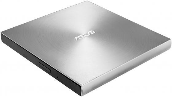 Внешний привод DVD±RW ASUS SDRW-08U9M-U/SIL/G/AS/P2G USB 2.0 серебристый Retail внешний привод dvd±rw lg gp70ns50 usb 2 0 серебристый retail