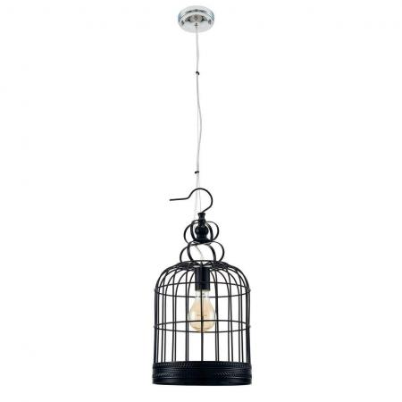 Подвесной светильник Spot Light Cage 9501104 modern nordic style wooden cage pendant light lamp wood stars ceiling fixtures lighting
