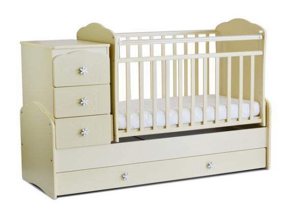 Кроватка с маятником СКВ-9 (бежевый/фасад жираф/940039) кроватка ковчег скв 9 94003x