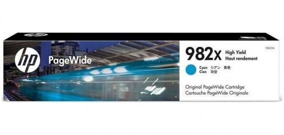 Картридж HP № 982A T0B27A для HP PageWide Enterprise Color 765/780/785 голубой 20000стр картридж hp pigment ink cartridge 70 black z2100 3100 3200 c9449a