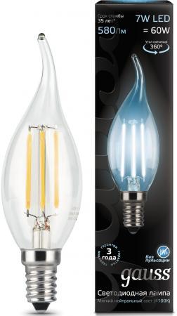 Лампа светодиодная свеча на ветру Gauss Filament E14 7W 4100K 104801207 электрический шкаф gefest да622 02 д1 черный