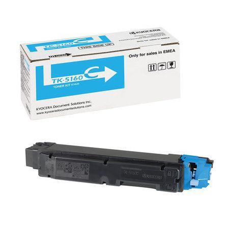 Картридж Kyocera TK-5160C для Kyocera ECOSYS P7040cdn голубой 12000стр картридж kyocera mita tk 1130