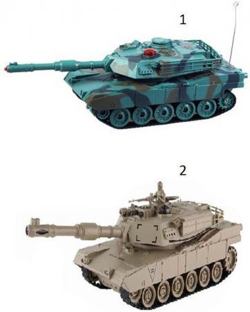 Танк на радиоуправлении Пламенный мотор Военная техника - Abrams М1А2 цвет в ассортименте от 6 лет пластик, металл 870294