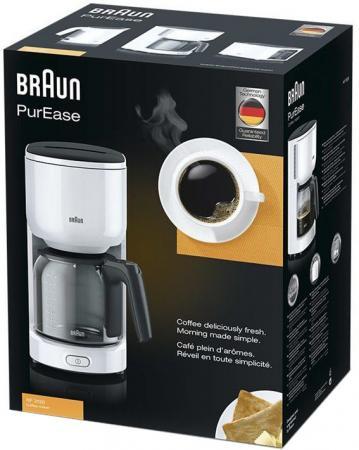 Кофеварка Braun KF 3120 1000 Вт белый кофеварка braun новинка есть в наличии 1000 вт черный kf 7020