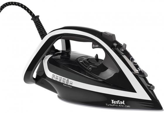 Утюг Tefal TurboPro Anti-Calc FV5645 2600Вт чёрный белый tefal k 0910204 talent