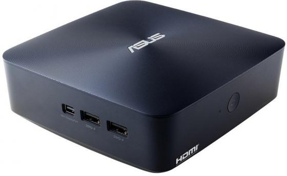 Неттоп ASUS VivoMini UN45H-DM013Z Intel Celeron-N3150 2Gb 500Gb Intel HD Graphics Windows 10 Home синий 90MS00R2-M02000 ноутбук asus x553sa xx137d 15 6 intel celeron n3050 1 6ghz 2gb 500tb hdd 90nb0ac1 m05820