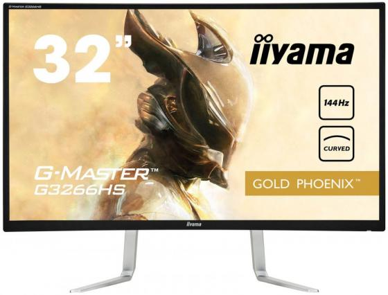 Монитор 32 iiYama G3266HS-B1 серебристый VA 1920x1080 300 cd/m^2 3 ms DVI HDMI DisplayPort VGA Аудио монитор 27 samsung c27f591fdi серебристый va 1920x1080 250 cd m^2 4 ms hdmi displayport vga аудио
