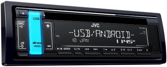 Автомагнитола JVC KD-R491 USB MP3 CD FM RDS 1DIN 4x50Вт черный автомагнитола supra scd 402u usb mp3 cd fm sd mmc 1din 4x50вт черный