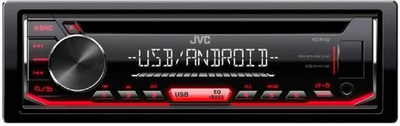 Автомагнитола JVC KD-R492 USB MP3 CD FM RDS 1DIN 4x50Вт черный