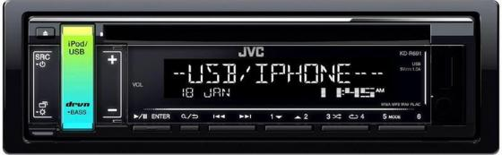 Автомагнитола JVC KD-R691 USB MP3 CD FM RDS 1DIN 4x50Вт черный supra scd 4002dcu black автомагнитола cd mp3